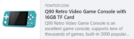 Q90 Retro Video Oyunu Fiyatı: 26,99 $
